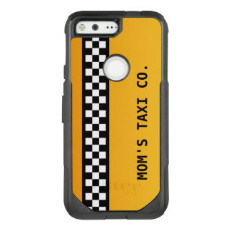 """Yellow Taxi Stripe """"Mom's Taxi Co."""" OtterBox Commuter Google Pixel Case"""