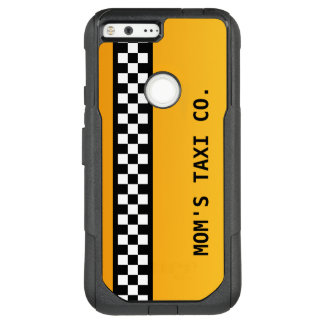"""Yellow Taxi Stripe """"Mom's Taxi Co."""" OtterBox Commuter Google Pixel XL Case"""