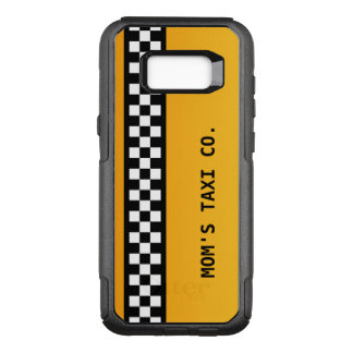 """Yellow Taxi Stripe """"Mom's Taxi Co."""" OtterBox Commuter Samsung Galaxy S8+ Case"""