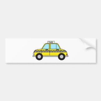 Yellow Taxicab Bumper Sticker