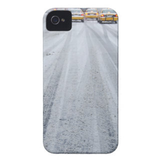 Yellow Taxis in Blizzard iPhone 4 Case