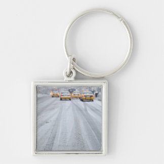 Yellow Taxis in Blizzard Key Ring