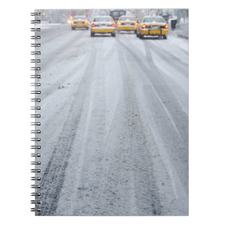 Yellow Taxis in Blizzard Notebook