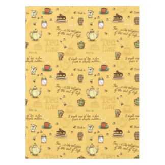 Yellow Tea and Honey Tea Time Tablecloth