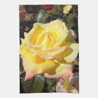 Yellow Tea Rose Tea Towel
