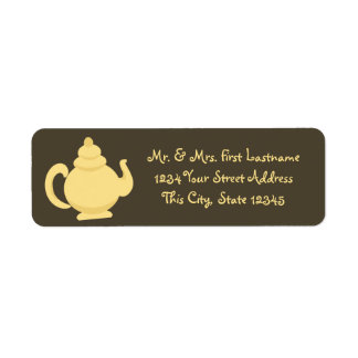 Yellow Teapot Return Address Label