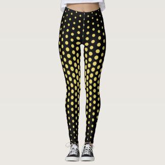 Yellow Techno Dot Pattern Leggings