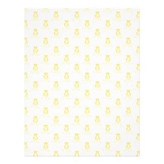 Yellow Teddy Bear and Polka Dot Scrapbooking Paper 21.5 Cm X 28 Cm Flyer