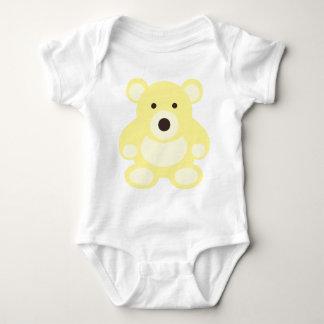Yellow Teddy Bear Baby Bodysuit