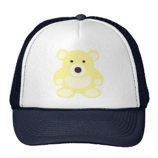 Yellow Teddy Bear Mesh Hat