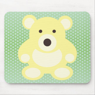 Yellow Teddy Bear Mouse Pad