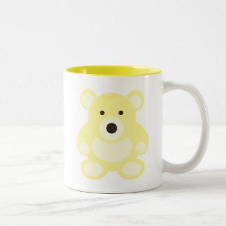 Yellow Teddy Bear Two-Tone Mug