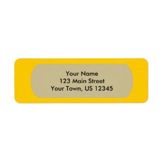 Yellow Template Return Address Label