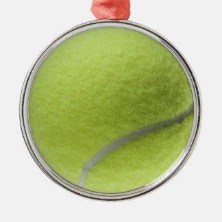 Yellow Tennis Ball Customized Template Silver-Colored Round Decoration