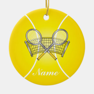 Yellow Tennis Ball | DIY Name Christmas Ornament