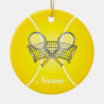 Yellow Tennis Ball | DIY Name Round Ceramic Decoration