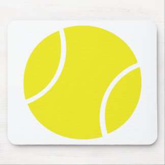 Yellow Tennis Ball Symbol Mouse Mat