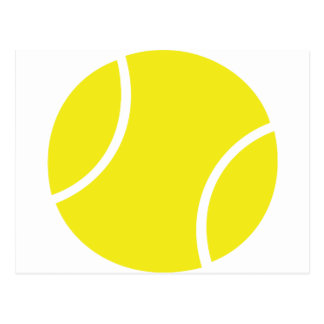 Yellow Tennis Ball Symbol Postcard