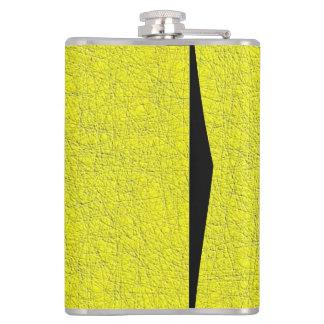 yellow texture hip flask