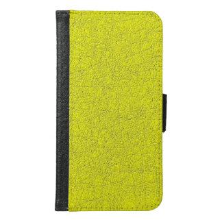 yellow texture samsung galaxy s6 wallet case