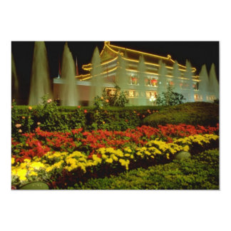 """yellow The Gate of Heavenly Peace, Forbidden City, 5"""" X 7"""" Invitation Card"""