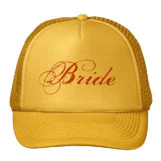 Yellow theme simple Bride hat