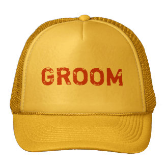 Yellow theme simple Groom hat