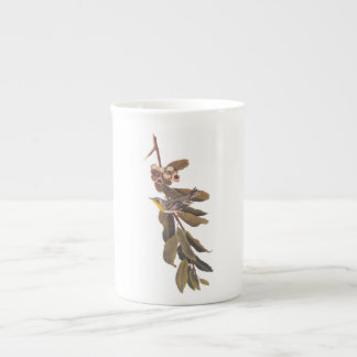 Yellow Throated Warbler Audubon Bird in Tree Tea Cup
