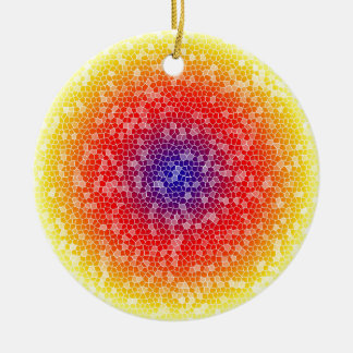 Yellow through he net christmas ornament
