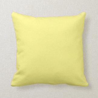"Yellow Throw Pillow - Light Yellow ""Customizable"""