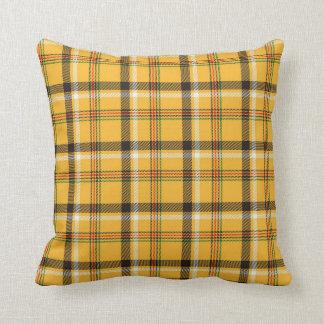 Yellow Throw Pillow - Plaid Design