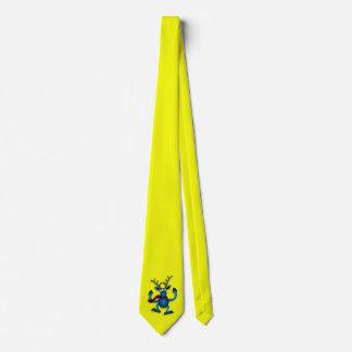 Yellow Tie W/Reindeer