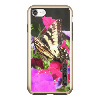 Yellow Tiger Swallowtail Butterfly on Pansies Incipio DualPro Shine iPhone 7 Case