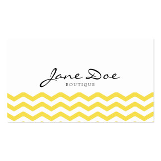 Yellow Tight Chevron Pattern Business Cards