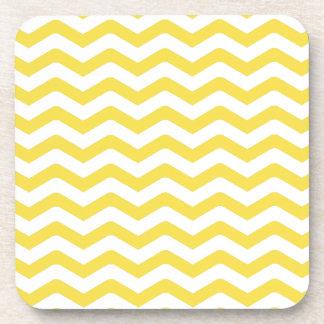 Yellow Tight Chevron Pattern Coaster