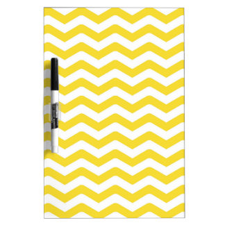 Yellow Tight Chevron Pattern Dry Erase Board