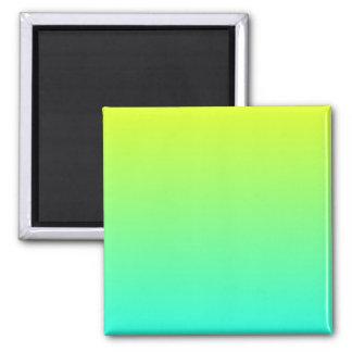 Yellow to Aqua Gradient Magnet
