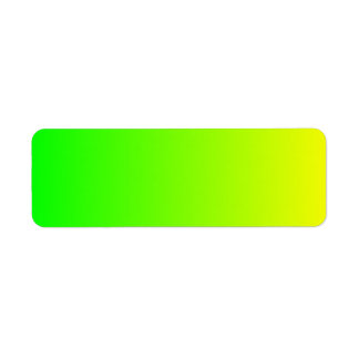 Yellow to Green Gradient Return Address Label
