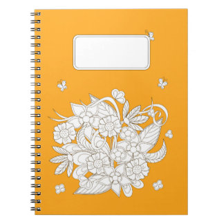 yellow to summer bouquet spiral note books