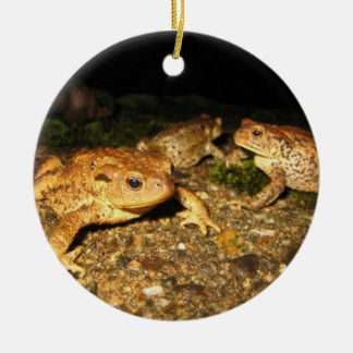Yellow Toads Round Ornament