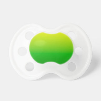yellow top green bottom gradient pacifier