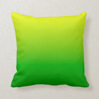 yellow top green bottom gradient throw cushions