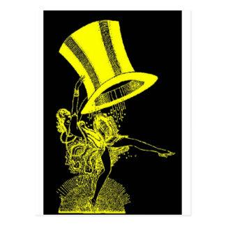 Yellow Top Hat Postcard
