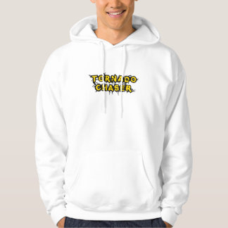 Yellow Tornado Chaser Logo for Storm Chasing Hooded Pullovers
