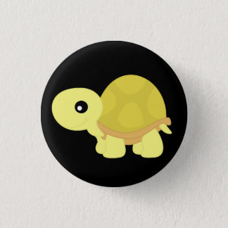 Yellow Tortoise 3 Cm Round Badge
