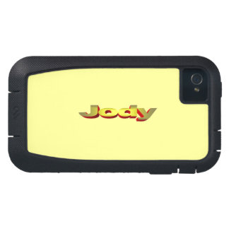 Yellow Tough Xtreme iPhone 4 case for Jody