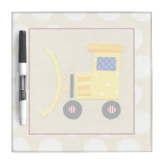 Yellow Toy Bulldozer Truck by Chariklia Zarris Dry Erase Board