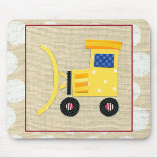 Yellow Toy Bulldozer Truck by Chariklia Zarris Mouse Pad