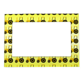 Yellow Tractor Magnetic Picture Frame