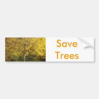 Yellow tree bumper sticker